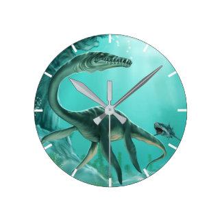 Unterwasserdinosaurier-Wanduhr Runde Wanduhr