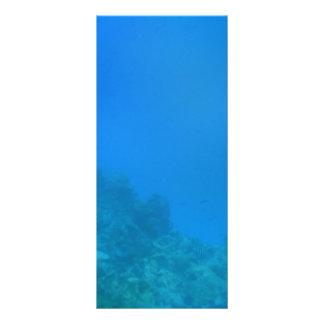 Unterwasserhintergrund-Szene Werbekarte