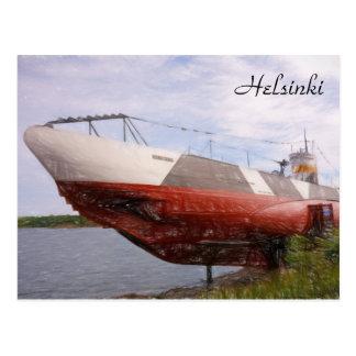 UnterwasserVesikko in Helsinki, Finnland Postkarte