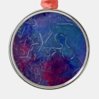 Unterwasserwelten Silbernes Ornament