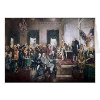 Unterzeichnen der US-Konstitution durch Christy Karte
