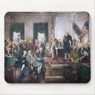 Unterzeichnen der US-Konstitution durch Christy Mousepad