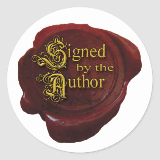 Unterzeichnet durch den Autorn-Aufkleber Runder Aufkleber