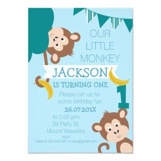 Unverschämte Affe-Bananen-Jungen-1. Karte