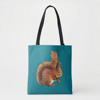 Unverschämte rotes Eichhörnchen-Taschen-Tasche Tasche
