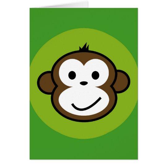Unverschämter Affe Grußkarte