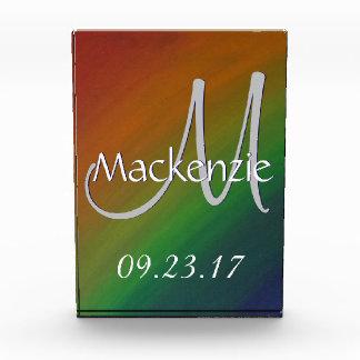 Unverschämter bunter Regenbogen-Stolz-abstrakte Acryl Auszeichnung