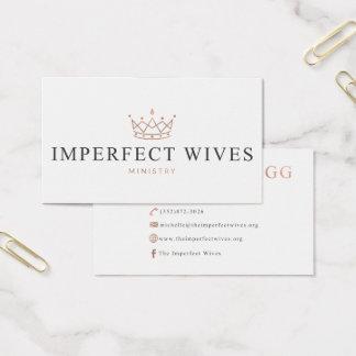 Unvollständiges Ehefrau-Ministerium - Michelle Visitenkarte