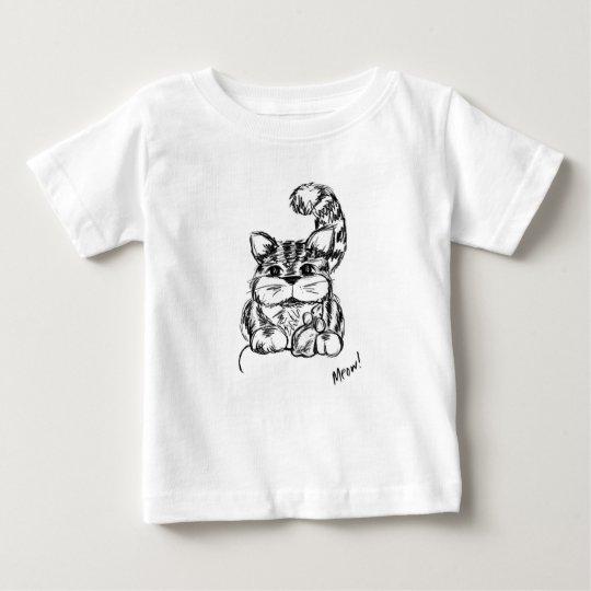 Unwahrscheinliche Freunde Katze und Maus Baby T-shirt