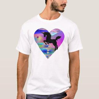Unwiderstehlicher Utherworld Unicorn-Kunst-T - T-Shirt
