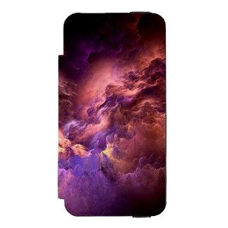 Unwirkliche lila Wolken Incipio Watson™ iPhone 5 Geldbörsen Hülle
