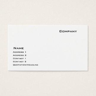 Unzerstörbares Schnelldruckerpapier Visitenkarte