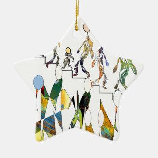 up and down keramik Stern-Ornament