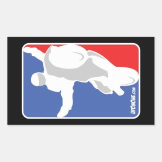 UpOnOne.com NBA Art-Logo Rechteckiger Aufkleber