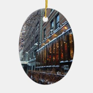 Upper West Side-Eiszapfen-New- York Citywinter NYC Keramik Ornament
