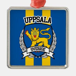 Uppsala Quadratisches Silberfarbenes Ornament