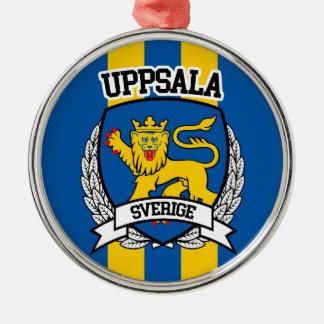 Uppsala Rundes Silberfarbenes Ornament
