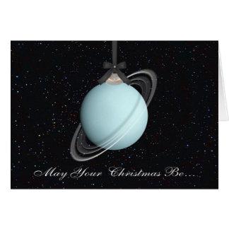 Uranus-Planeten-Weihnachtsgruß-Karte Karte