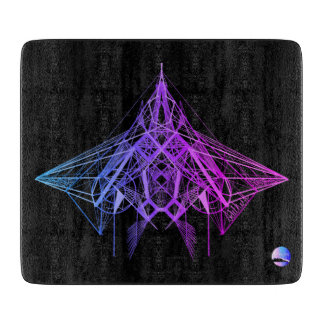 UrbnCape geometrisches lila Ausschnitneonbrett Schneidebrett