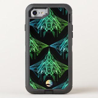 UrbnCape geometrisches Neondesigner iPhone 7 OtterBox Defender iPhone 8/7 Hülle