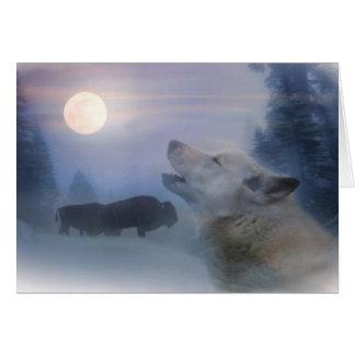Ureinwohner-Feiertag kardiert Wolf und Büffel Karte