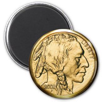 Ureinwohner-Goldmünze Runder Magnet 5,1 Cm