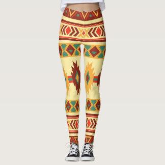 Ureinwohner-Muster: Sonnige Erdtöne Leggings