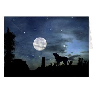 Ureinwohner-südwestliche Kojote-Weihnachtskarte Karte