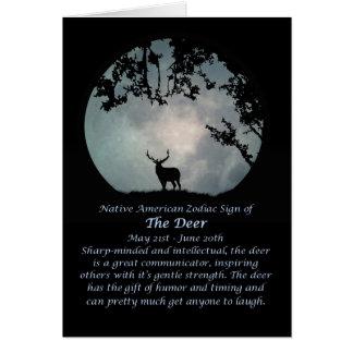 Ureinwohner-Tierkreis-Zeichen der Rotwild Karte