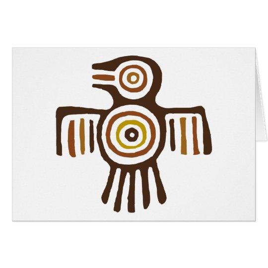 Ureinwohner-Vogel Grußkarte