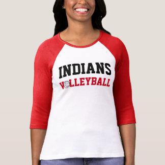 Ureinwohner-Volleyball-Stolz-Abnutzung (das Rot T-Shirt