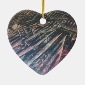 ursprüngliche alienlandschafttechno keramik Herz-Ornament