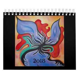 Ursprüngliche bunte abstrakte kleiner Kalender der