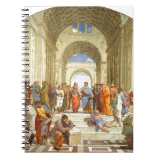 """Ursprüngliche Farbe """"die Schule von Athen"""" durch Spiral Notizblock"""