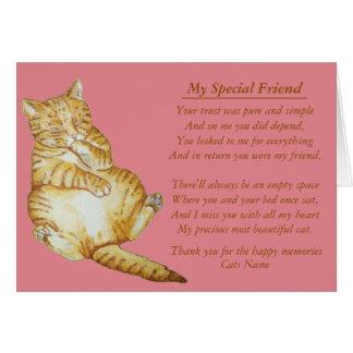 ursprüngliche Gedichtkarte des Katzen- und Karte