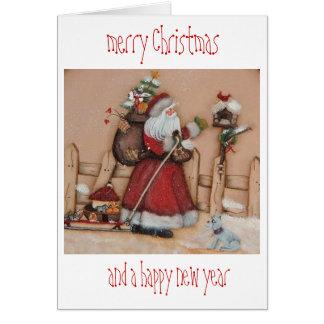 ursprüngliche handgemalte Weihnachtskarte Karte