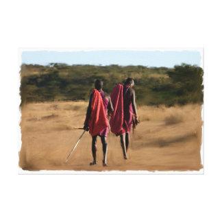 Ursprüngliche Kenia-Krieger Leinwanddruck
