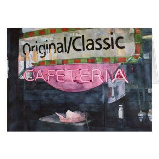 Ursprüngliche klassische Cafeteria Karte