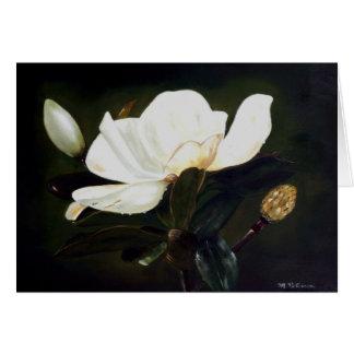 Ursprüngliche Malerei einer Magnolien-Blume Karte