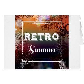 Ursprüngliche Postkarte der Retro Sommerdesigner: