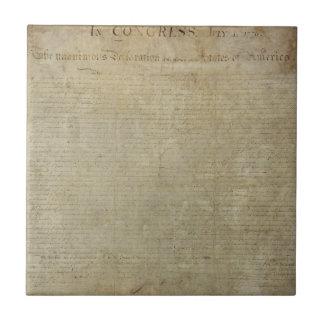 Ursprüngliche Unabhängigkeitserklärung Kleine Quadratische Fliese