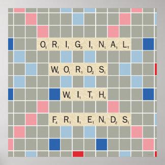 Ursprüngliche Wörter mit Freunden Poster