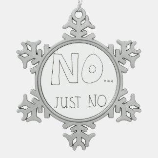 Ursprüngliche Zitat-Schneeflocke-Verzierung Schneeflocken Zinn-Ornament