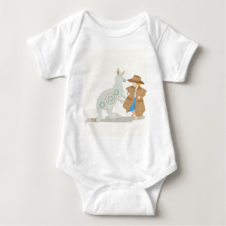 Ursprünglicher Kunstdruck des Kängurus Baby Strampler