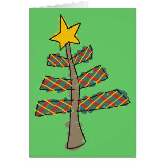 Ursprünglicher Weihnachtsbaum Karte