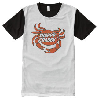 Ursprüngliches bissiges mürrisches T-Shirt mit komplett bedruckbarer vorderseite