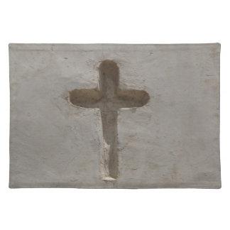 Ursprüngliches christliches Kreuz fertigen Stofftischset