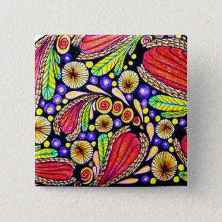 Ursprüngliches Kunst-Button (2 Zoll) Quadratischer Button 5,1 Cm
