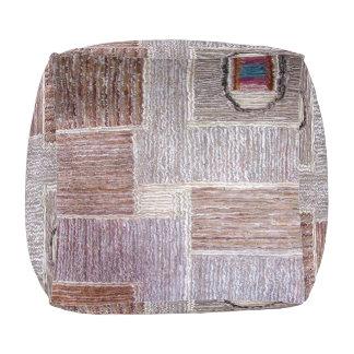 Ursprüngliches ledernes Teppichhandwerk Kubus Sitzpuff