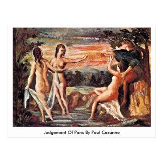 Urteil von Paris durch Paul Cezanne Postkarte